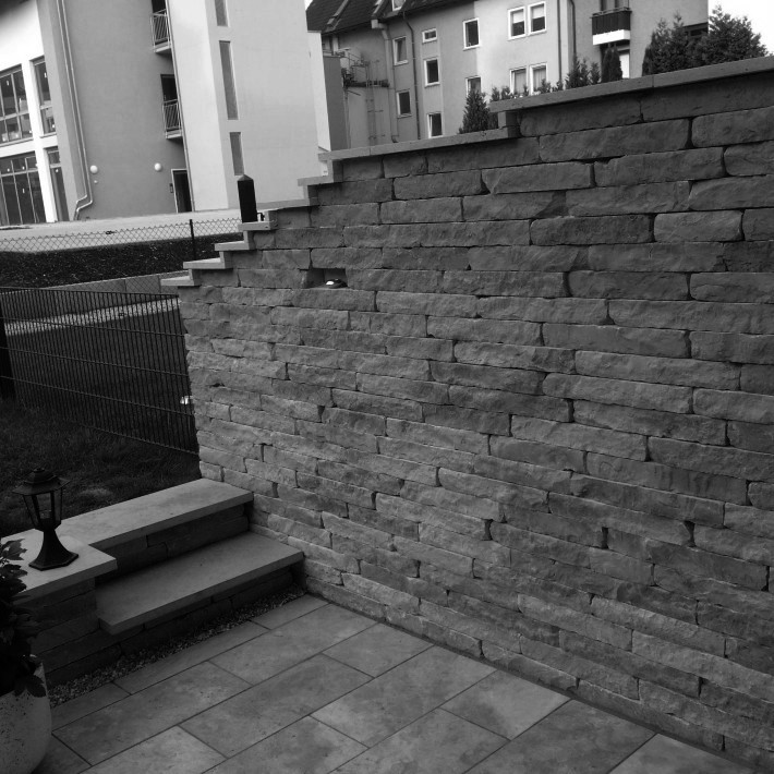 Steinmauer als Sichtschutz